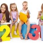 Children reading book — Stock Photo