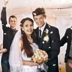 Group at wedding. — Stock Photo