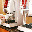 Coffee machine with cup of coffee . — Stock Photo #27608707