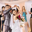 Group at wedding dance. — Stockfoto