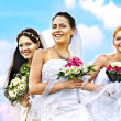 Stock Photo: Group bride summer outdoor.