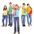 Group of teen people. — Stock Photo