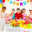 Stock Photo: Children happy birthday party .