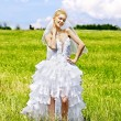 Bride in wedding dress. — Stock Photo