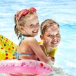 Stock Photo: Children in swimming pool.