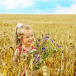 Child in wheat field. — Stock Photo