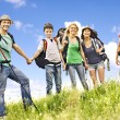 Group people on travel. — Stock Photo