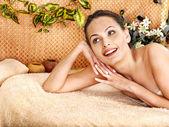 Woman getting body massage . — Stock Photo