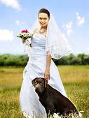 Bride in wedding dress. — Stock Photo