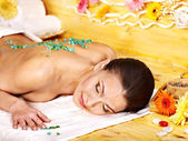 Woman getting massage . — ストック写真