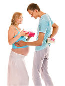 Pregnancy woman with husband. — Stock Photo