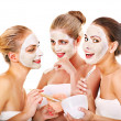 Group women with facial mask. — Stock Photo #30142983
