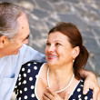Stock Photo: Happy old couple outdoor.