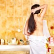 Woman at luxury spa. — Stock Photo #30143361