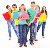 Group of teen people. — Stock Photo