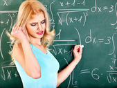 Woman in classroom. — Stock Photo