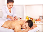 Man getting massage in spa. — Stock Photo