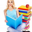 Student with stack book. — Stock Photo #30433037