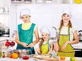 Children bake cookies. — Stock Photo