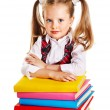 Child with stack book. — Stock Photo #30743903
