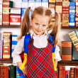 Child with stack book. — Stock Photo #30744147