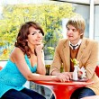 Couple on date in restaurant. — Stock Photo #31638921
