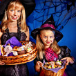 Witch children at Halloween party. — Stock Photo #31639785
