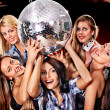 Stock Photo: Womon disco in night club.