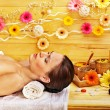 Womgetting stone therapy massage . — Stock Photo #31639889