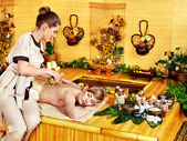 Woman getting relax massage . — Foto de Stock