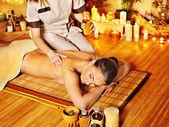 Woman getting massage . — Stok fotoğraf
