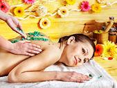 Woman getting massage . — Foto de Stock