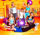 Women in aerobics class. — Stock Photo