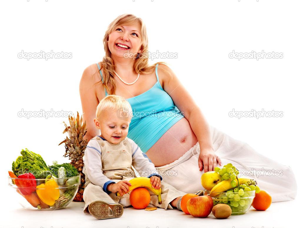 孕妇吃的水果吃.隔离– 图库图片