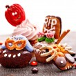 Halloween table with trick or treat — Stock Photo #32533827