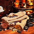 Ayurvedic spa massage still life — Stock Photo