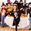 Halloween party with children holding trick or treat. — Stock Photo #32533913