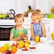 Family  breakfast with child — Stock Photo