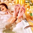 Woman relaxing at bubble bath. — Stock Photo #32946441