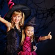 Witch child at Halloween party. — Stock Photo #32946473