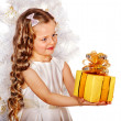 Child with gift box — Stock Photo #33333039