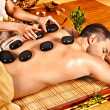 Mgetting stone therapy massage . — Stock Photo #33927167