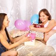 Woman at her baby shower. — Stock Photo #33927397