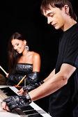 Band spielen musikinstrument. — Stockfoto