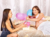 Woman at her baby shower. — Stock Photo