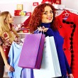 Shopping women at Christmas sales. — Stock Photo #34547741