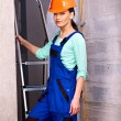 Woman in builder uniform. — Stock Photo