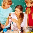 Stock Photo: Children in chemistry class.