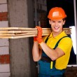 Stock Photo: Man in builder uniform.