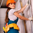 Woman in builder uniform. — Stock Photo #35334667
